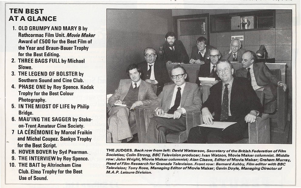 June 1982 Movie Maker magazine - second row rhs is our Group 9.5 club  Chairman Graham Murray!